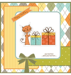 Birthday announcement card vector image