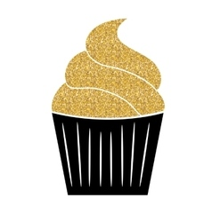 Birthday Cake Flat Web Icon vector image