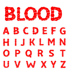 blood letters alphabet vector image
