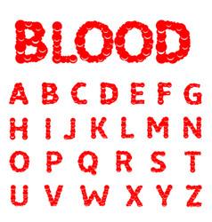 Blood letters alphabet vector