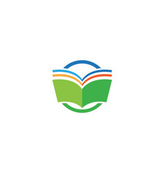 Book reading logo and symbols template icons vector