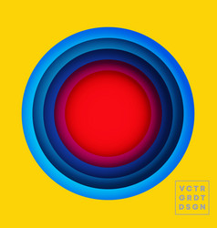 color circles design for flyer poster brochure vector image