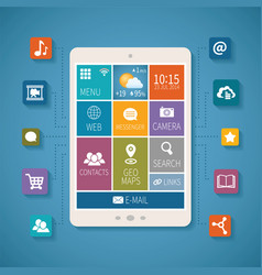 concept of mobile communications and cloud vector image