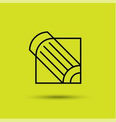 contour pencil icon line creative symbol vector image