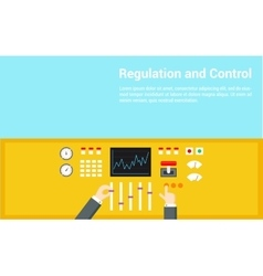 Control and regulation concept hands operated vector