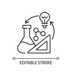 Creativity in stem linear icon vector