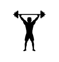 deadlift barbell icon design template vector image