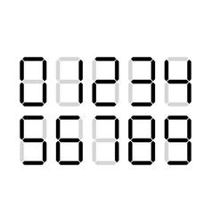 digital numbers digits display vector image