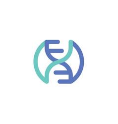 dna science logo vector image
