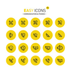 easy icons 31c phones vector image