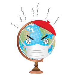 Epidemic on earth vector