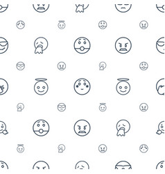 Expression icons pattern seamless white background vector