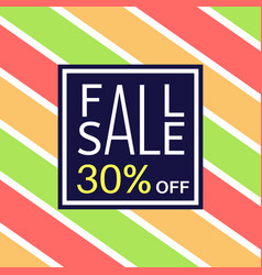 fall sale banner for online shopping with discount vector image