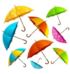 Falling Color Umbrellas Background vector image