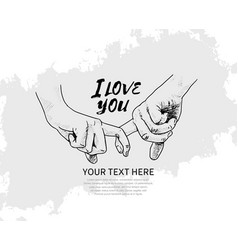 Finger holding hand hand drawn isolated on white vector