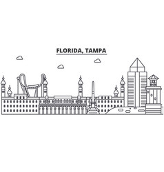Florida tampa architecture line skyline vector