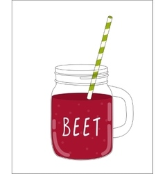 Fresh Beet Smoothie Healthy Food vector