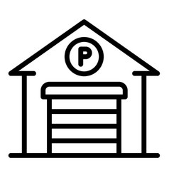 Garage parking icon outline style vector