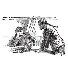 gulliver and gentleman vintage vector image