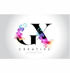 Gx vibrant creative leter logo design with vector