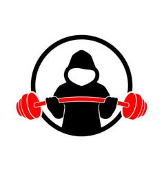 Hoodie fitness strength gym design vector