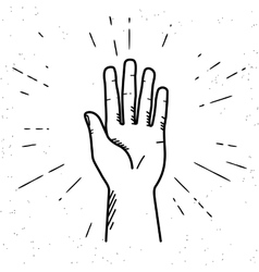 Human hand giving a high five vector image