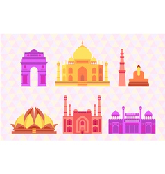 Indian buildings vector