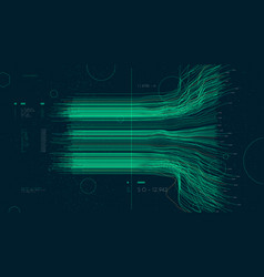 Information artificial neural network cluster vector