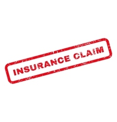 Insurance Claim Text Rubber Stamp vector image