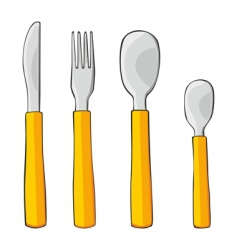 isolated dishware vector image