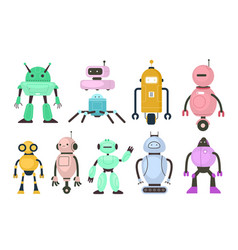 Kids robots electronic toys different vector