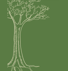 line art of a tree vector image
