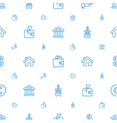 Loan icons pattern seamless white background vector