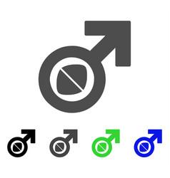 Male potency tablet icon vector