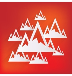 Mountains web icon vector image
