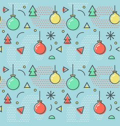 new year christmas memphis seamless pattern vector image