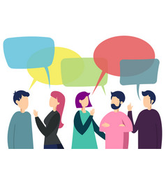people team conversation vector image