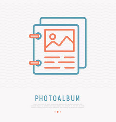 photo album thin line icon vector image