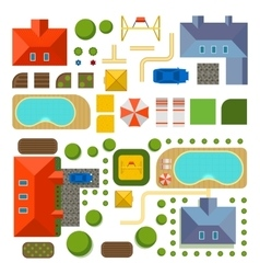 plan private house vector image