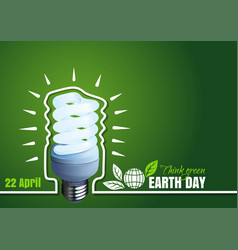 Poster for earth day 22 april typographic design vector