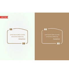 Quote Template Bubble Template Quote Set Trendy vector