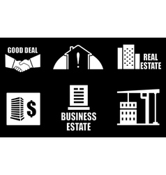 real estate industry icons set vector image