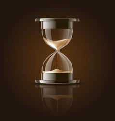 Sand falling in hourglass vector