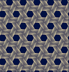 seamless dark blue and gold background vector image