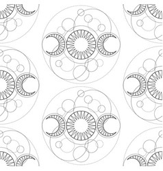seamless pattern from triple moon magic vector image
