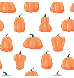 seamless patterns pumpkin halloween background vector image