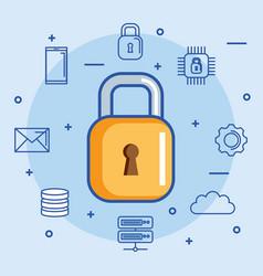 Security data center information hosting storage vector