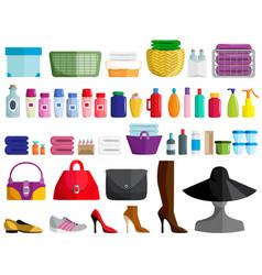 Set female accessories vector