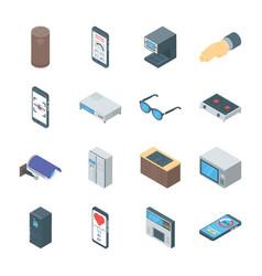 Smart gadgets icons vector