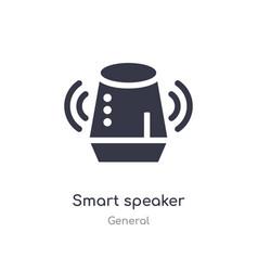 Smart speaker icon isolated speaker icon vector